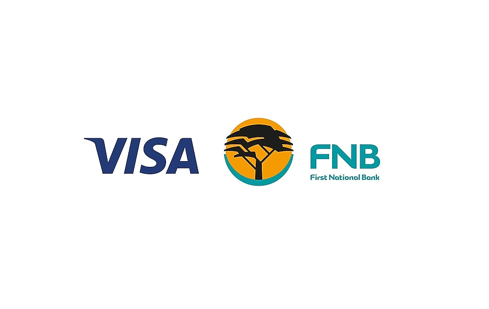 Visa and FNB logos