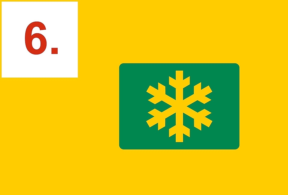 Snowflake symbol in a rectangle