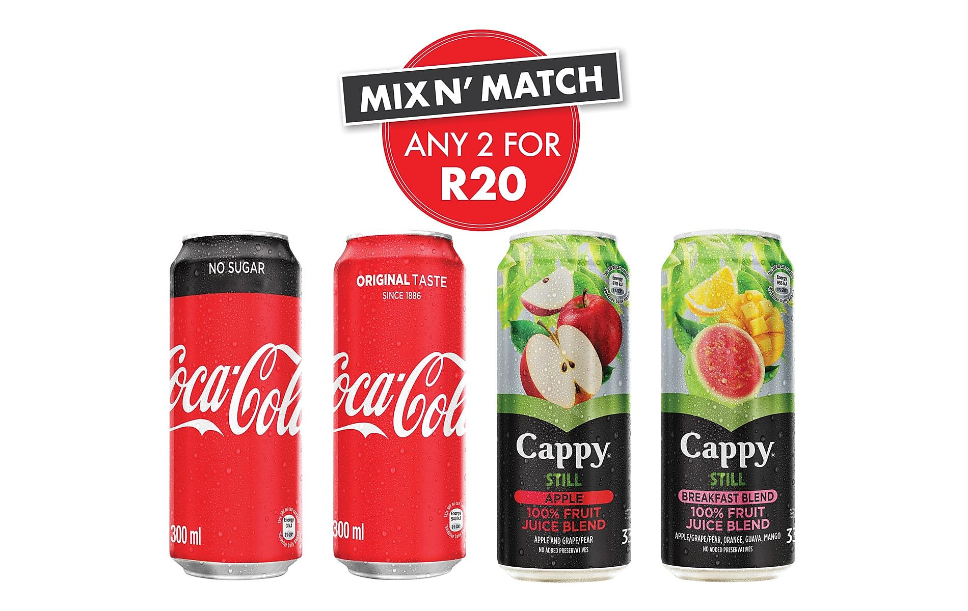 Mix n' Match With Coca-Cola® AND Cappy Juice