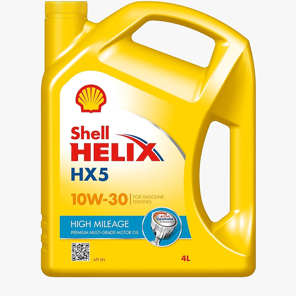 Packshot for Shell Helix HX5 High Mileage 10W-30